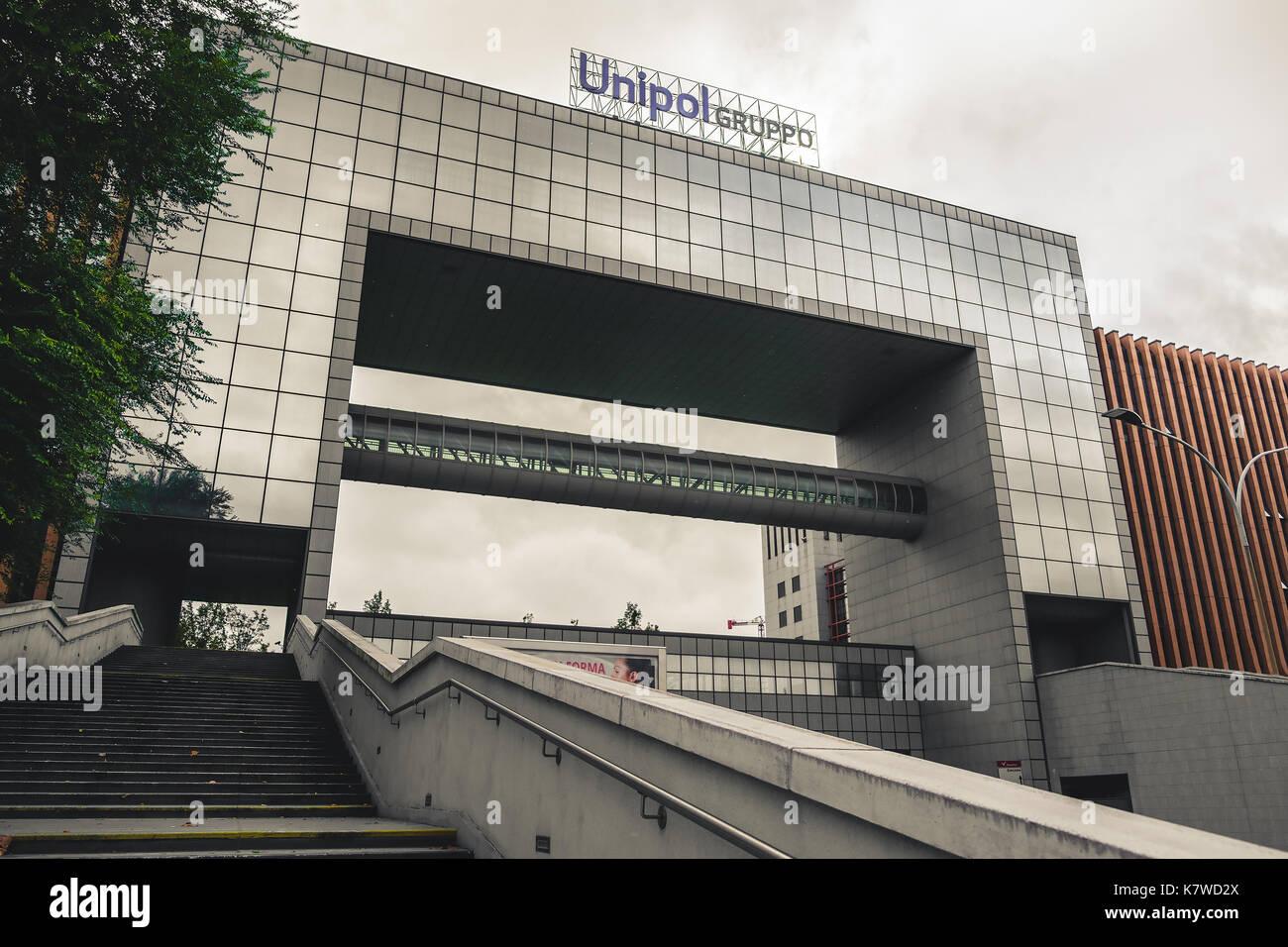Bologna, Italia, 10 SEP 2017: il gruppo unipol edificio in zona fiera (fair distric) di Bologna. unipol è un famoso Foto Stock