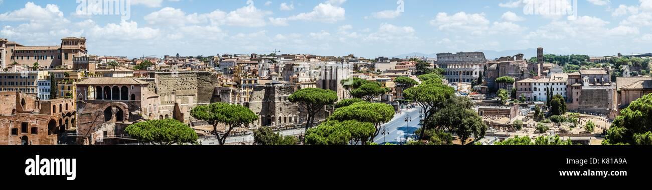 Panorama di roma Immagini Stock