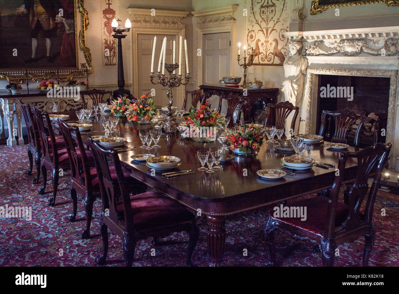 Regal sala da pranzo in inglese casa nobiliare, nello ...