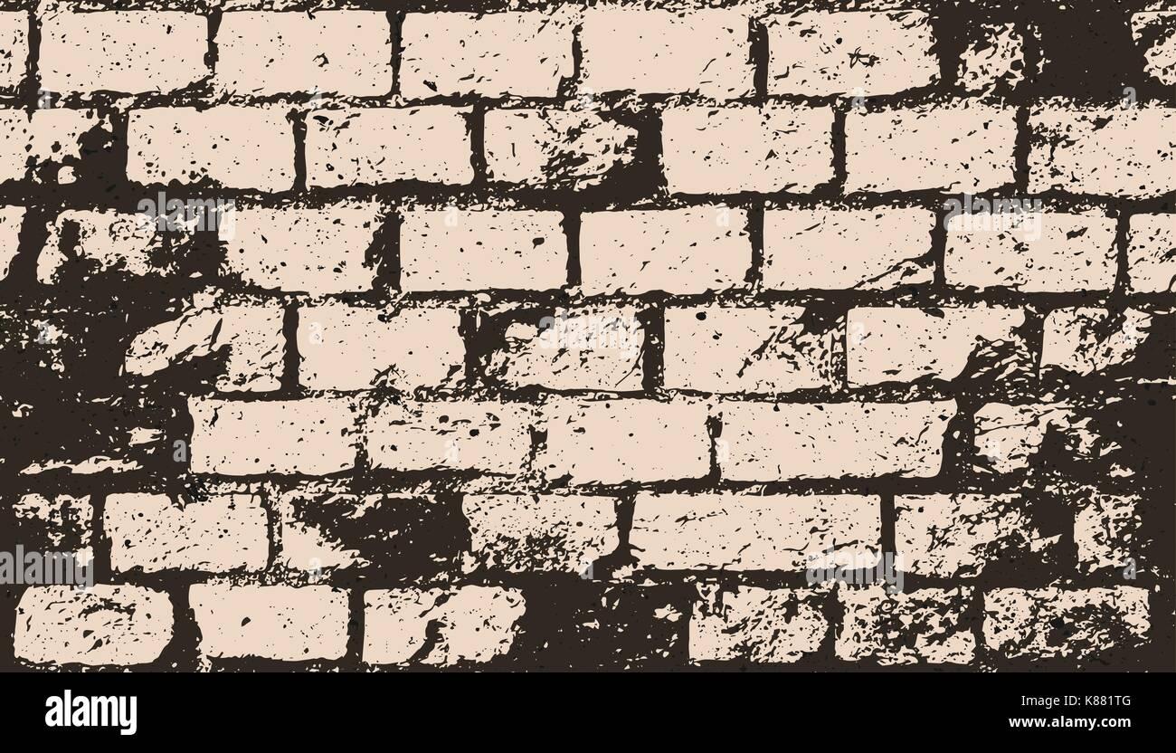 Carta Da Parati Su Muro Ruvido.Abstract Muro Di Mattoni Superficie Vettore Costruzione Texture