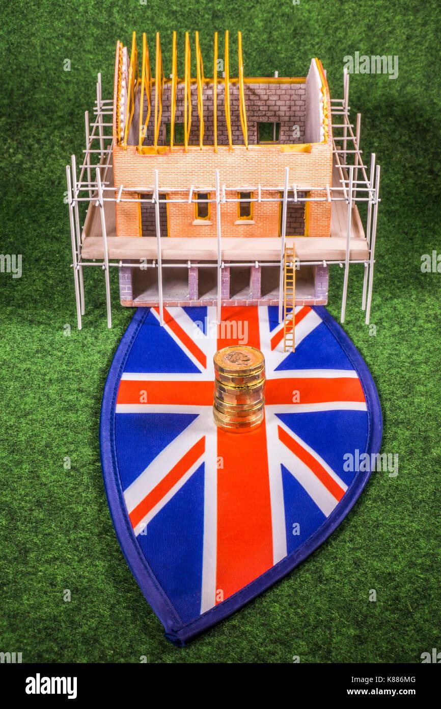 Costi Per Costruire Casa nuovo modello di costruire casa su una unione jack, con