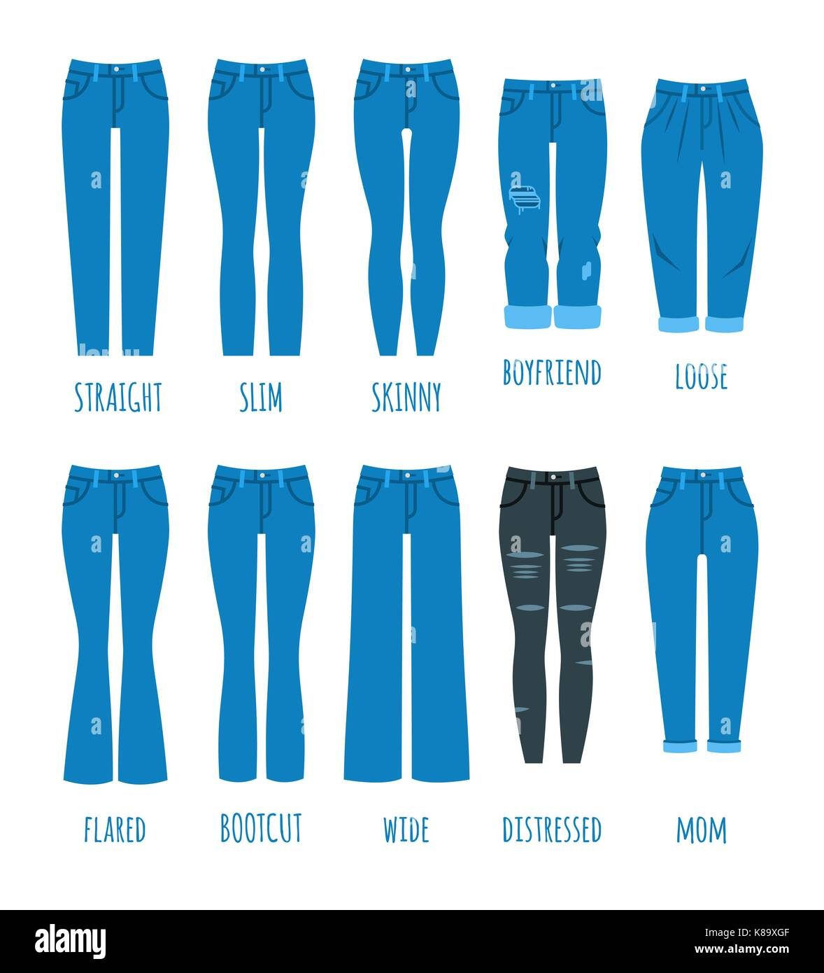 cda771ae47 Le donne stili di jeans collezione moda denim pantaloni femmina ...