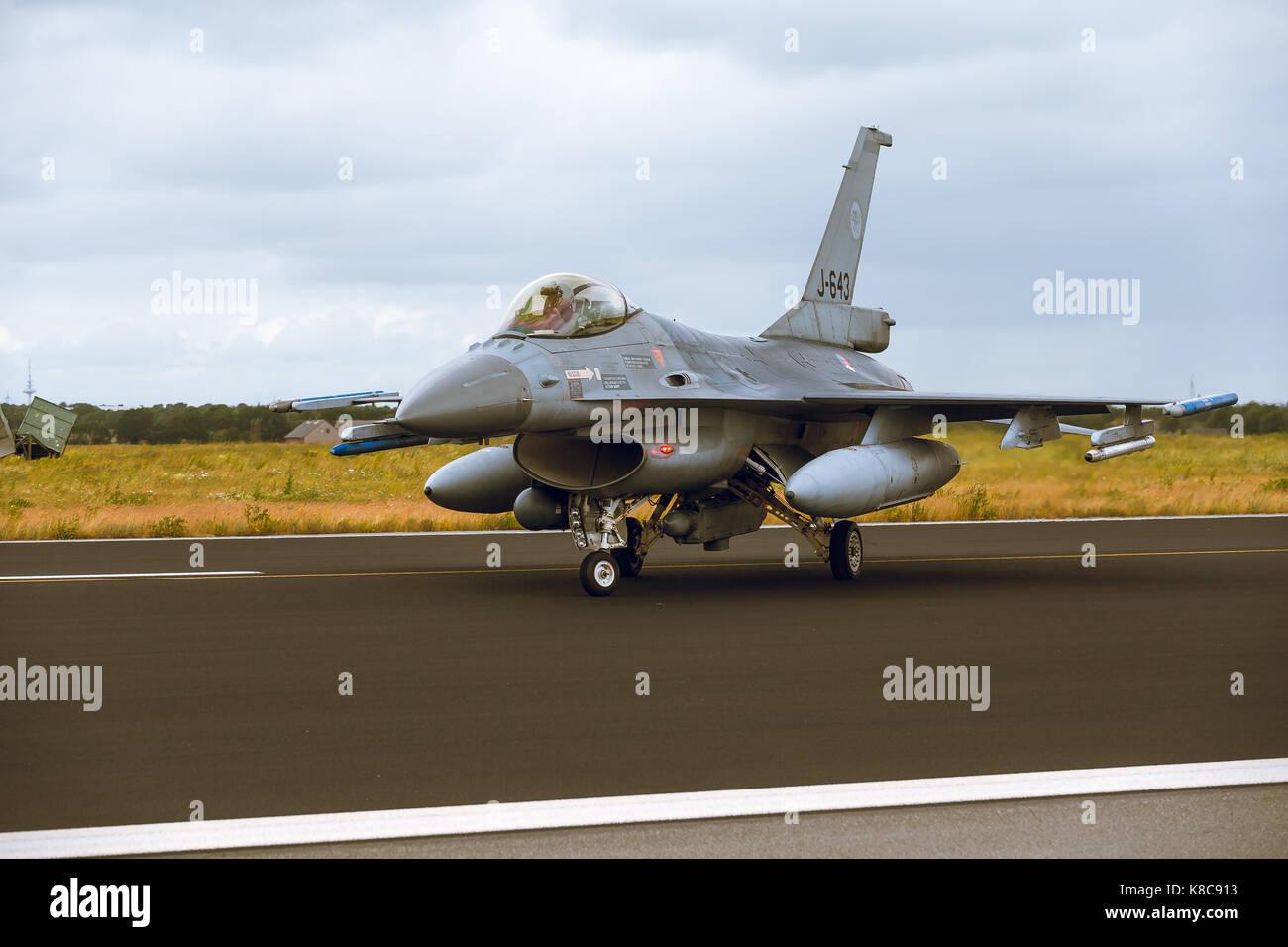 General Dynamics F-16a Fighting Falcon a ntm2014 Immagini Stock