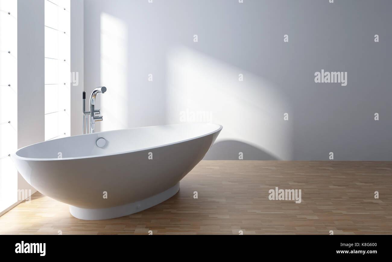 Vasche Da Bagno Stile Moderno : Vasca da bagno bianco in stile minimalista moderno bagno con