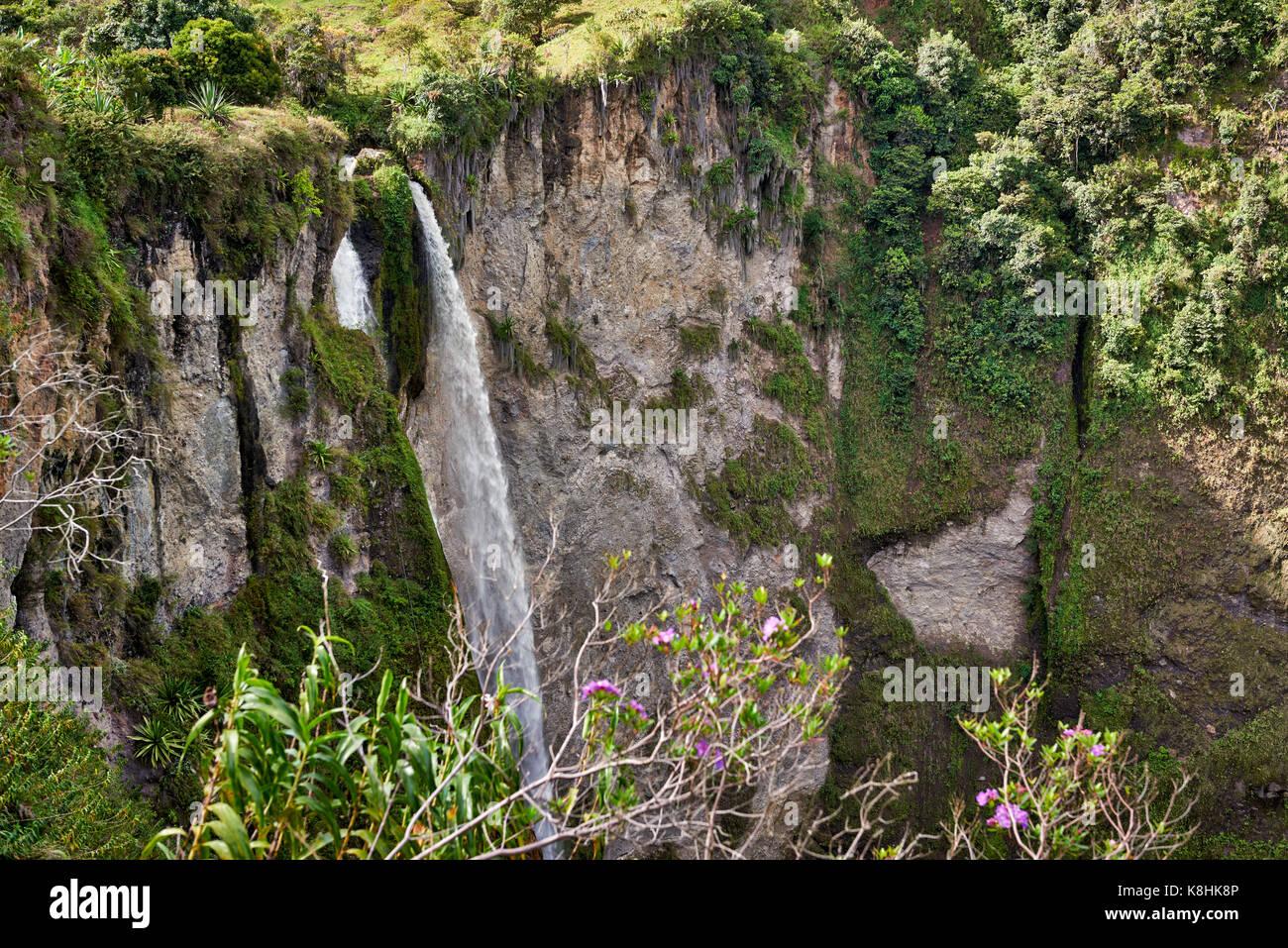Salto El Mortino, Mortino cascata, San Agustin , Colombia, Sud America Immagini Stock