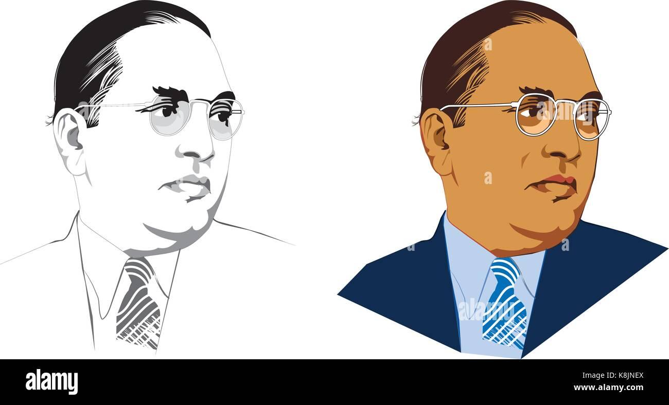 Stock illustrazione vettoriale di indian Freedom Fighter dr babasaheb ambedkar Immagini Stock