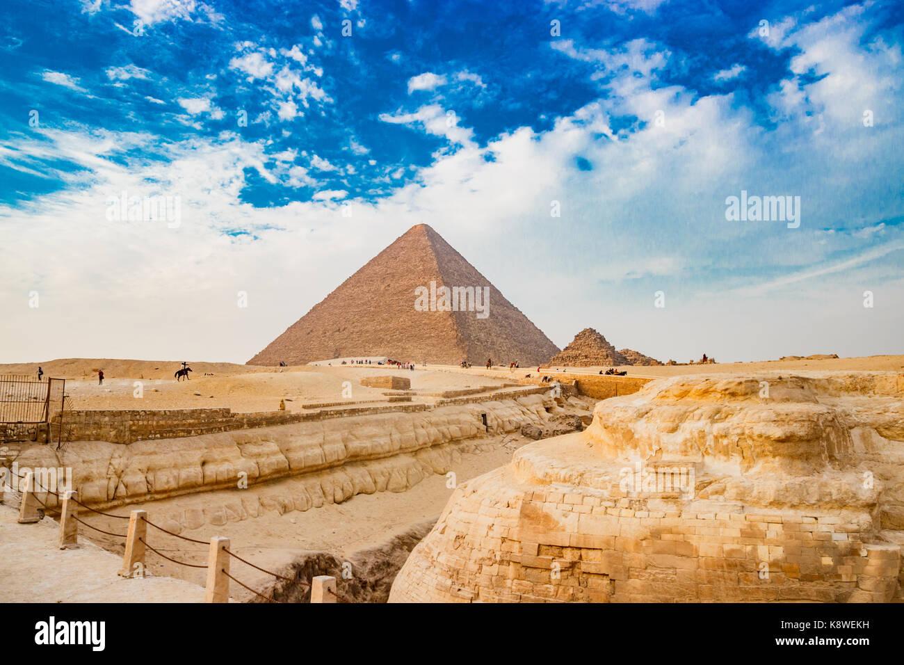 La piramide del Cairo in Egitto Immagini Stock