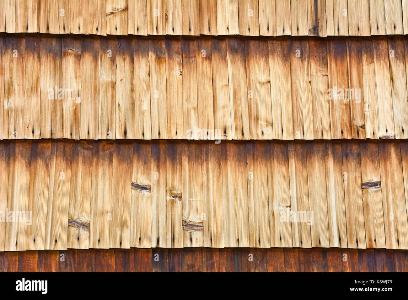 Rivestire Una Parete Di Legno.La Parete Dell Edificio Shingle Con Schede Madri Rivestimento In