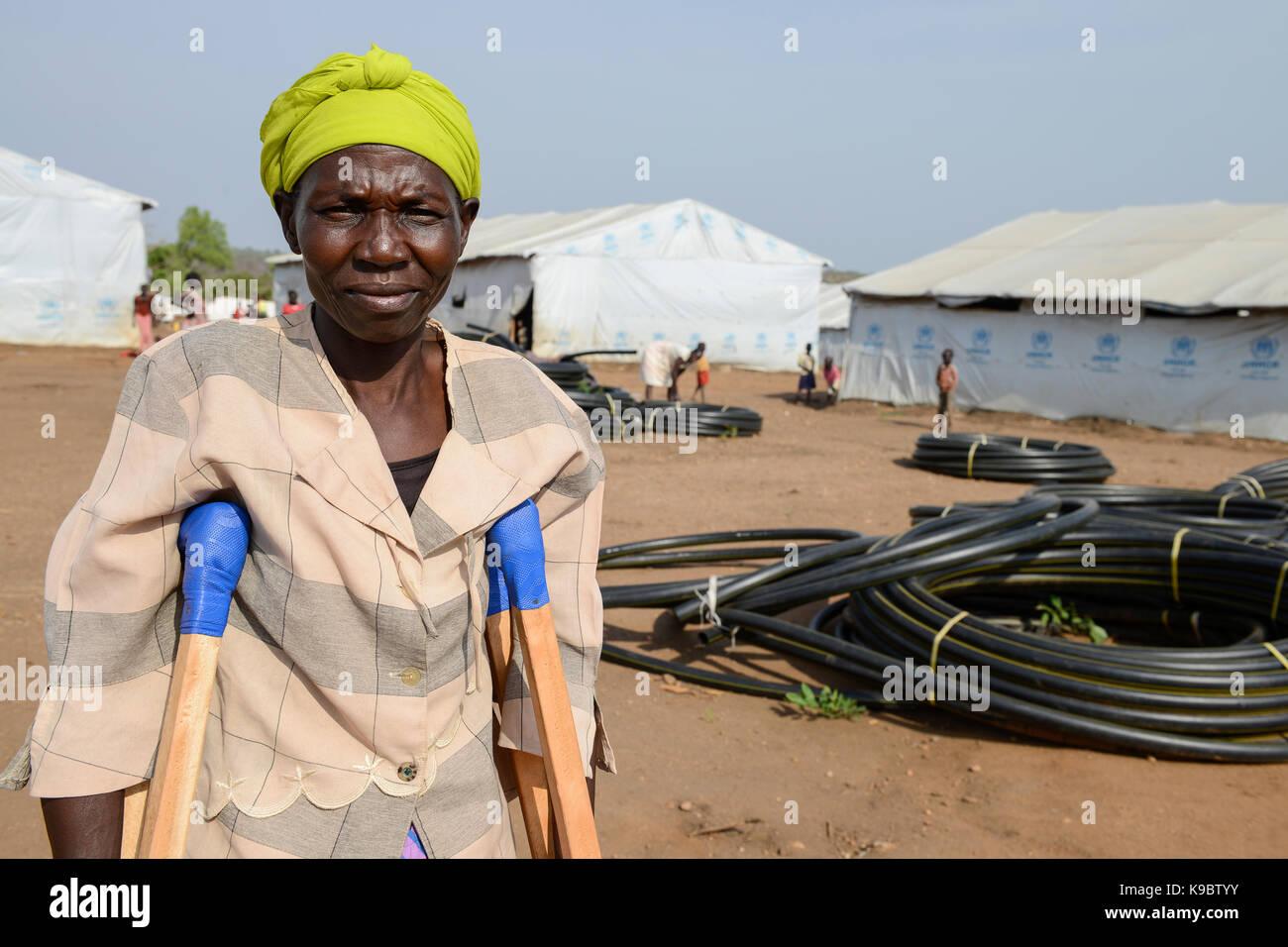 In Uganda, diocesi di Arua, Yumbe, sud profughi sudanesi in Bidi Bidi insediamento di rifugiati / suedsudanesische Immagini Stock