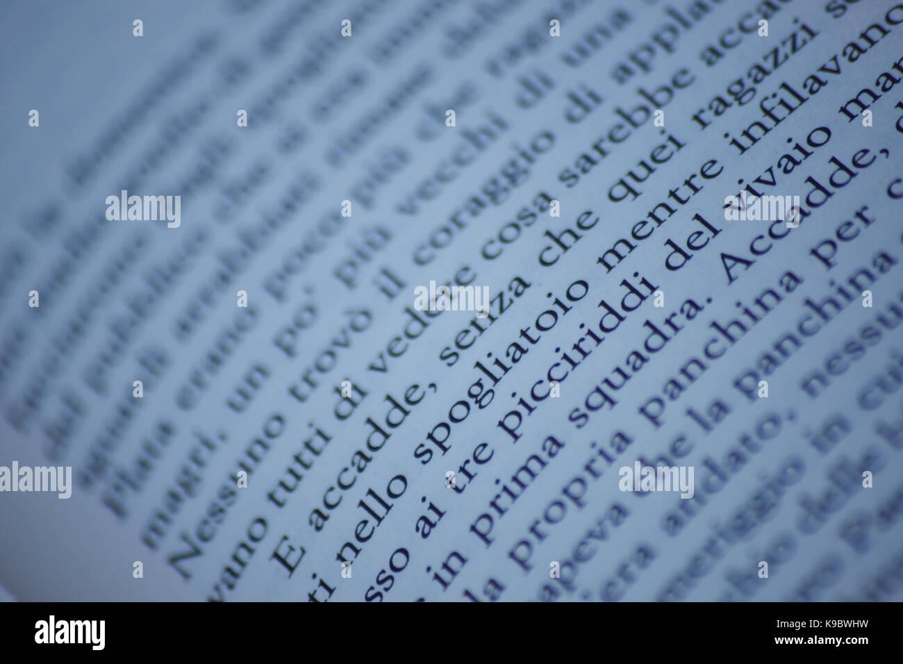 lettura di un libro Immagini Stock