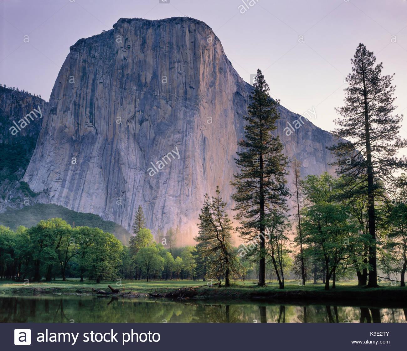 El Capitanin primavera,Parco Nazionale Yosemite in California Immagini Stock