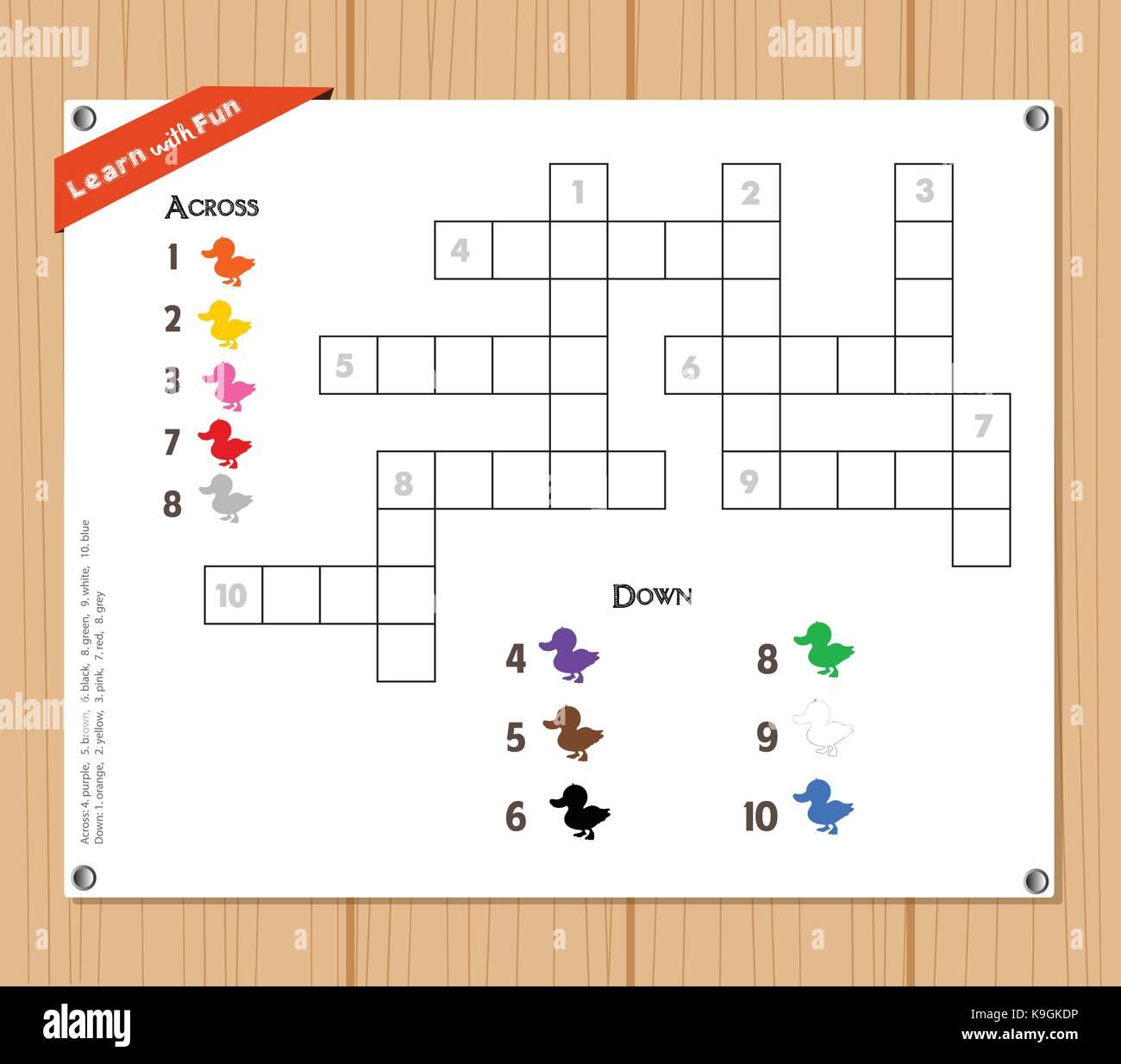 Crossword Children Immagini Crossword Children Fotos Stock Alamy