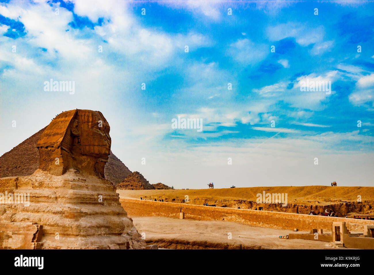 La Sfinge del Cairo in Egitto Immagini Stock