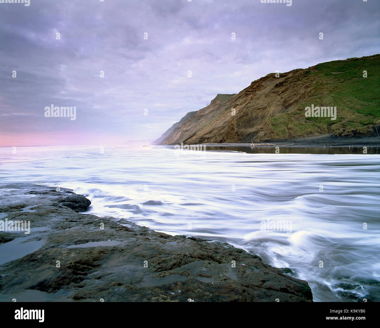 Nuova Zelanda. North Island. Auckland regione. west coast scogliere e picchi di marea. Immagini Stock