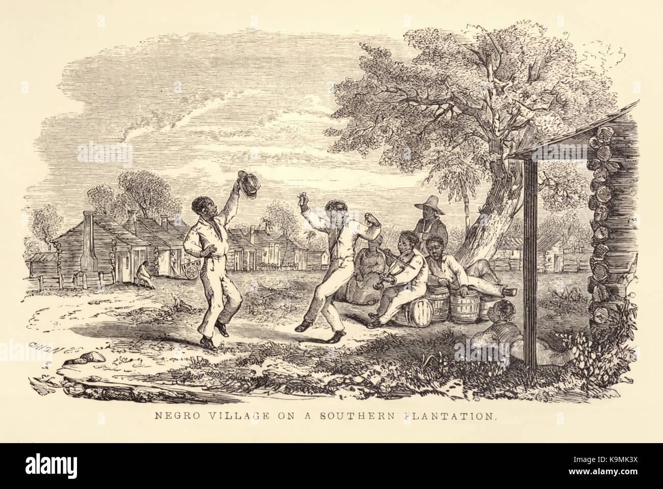 Negro villaggio su una piantagione del sud 39 da 39 zia for La cabina di zio ben