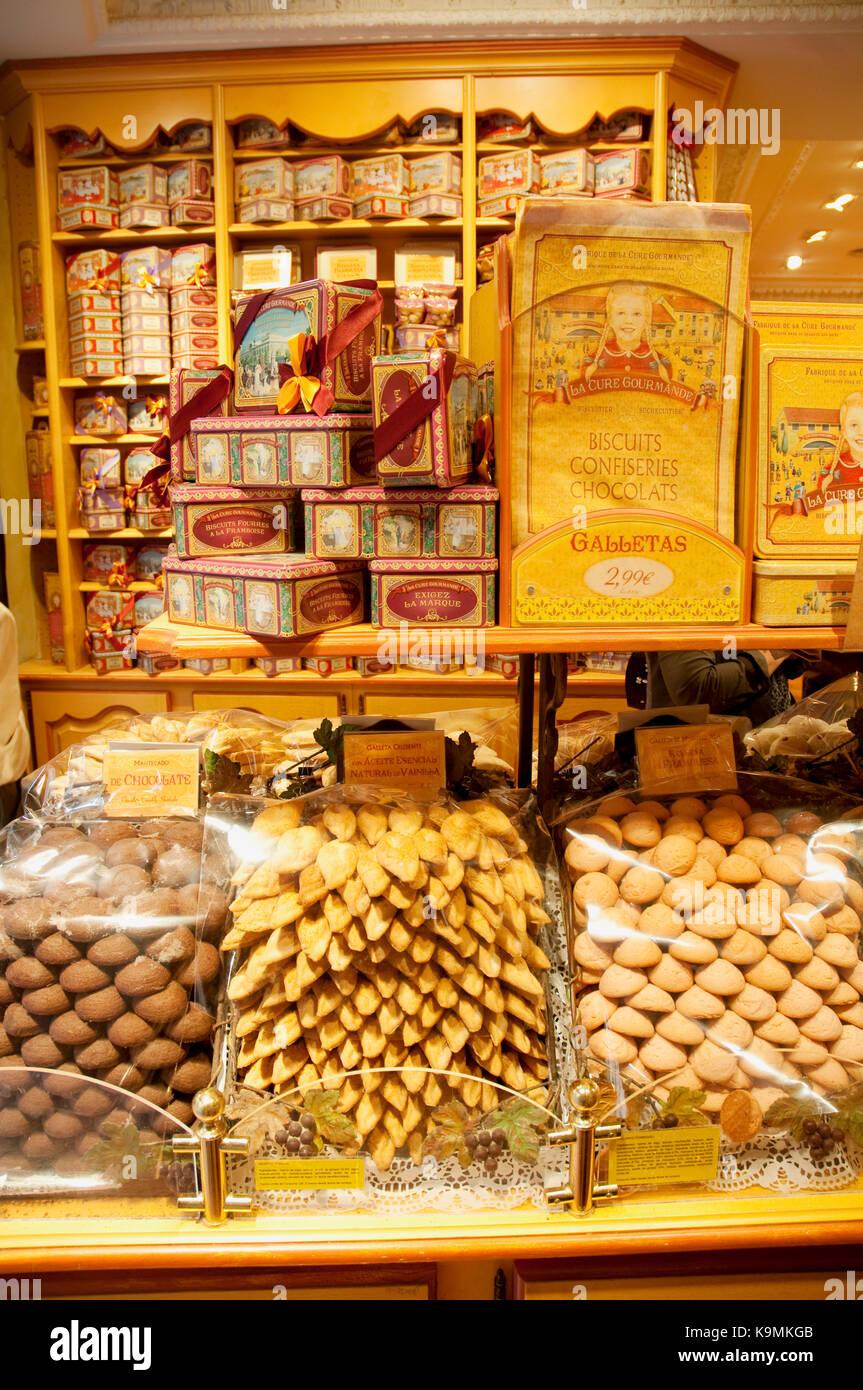 Negozio di dolci, vista interna. madrid, Spagna. Immagini Stock
