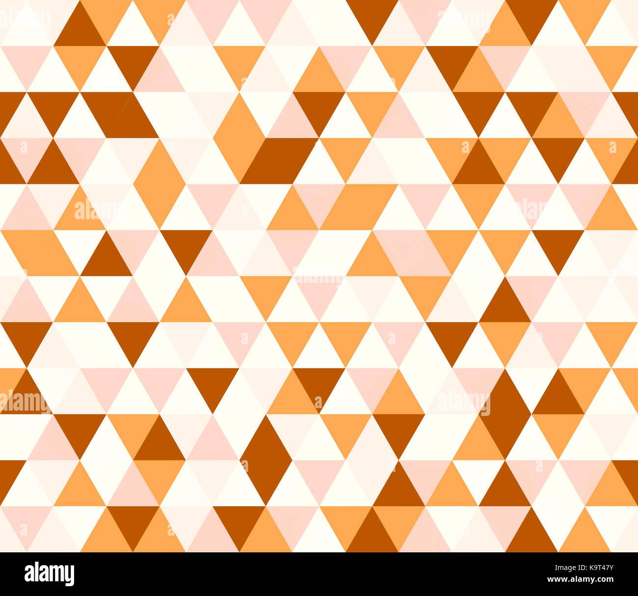 I triangoli di colore arancione modello senza giunture Immagini Stock