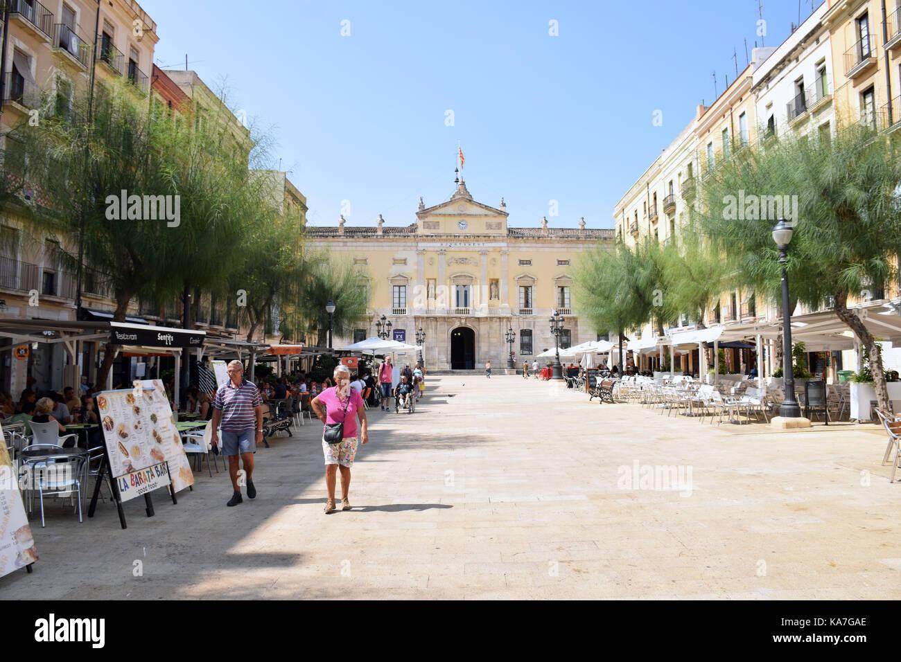 La Catalogna, Spagna sep 2017. tarragona Plaça de la font Immagini Stock
