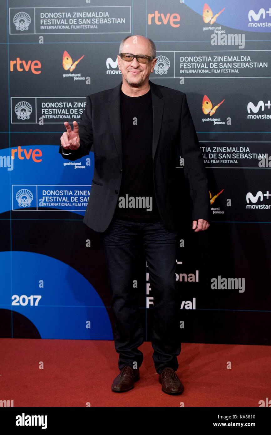 """San sebastian, Spagna. Xxv Sep, 2017. attore Daniel araoz presso il tappeto rosso di """"n.a. especie de familia' Immagini Stock"""
