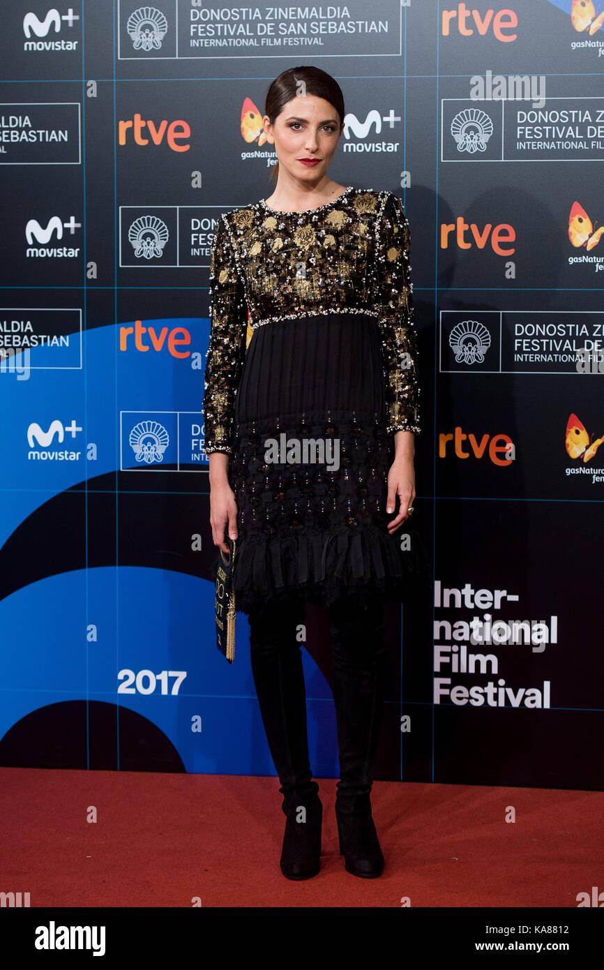 """San sebastian, Spagna. Xxv Sep, 2017. L'attrice Barbara lennie presso il tappeto rosso di """"n.a. especie Immagini Stock"""