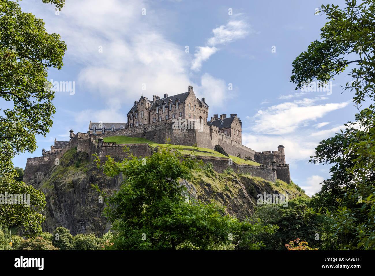 Il castello di Edimburgo, Lothian, Scozia, Regno Unito Immagini Stock