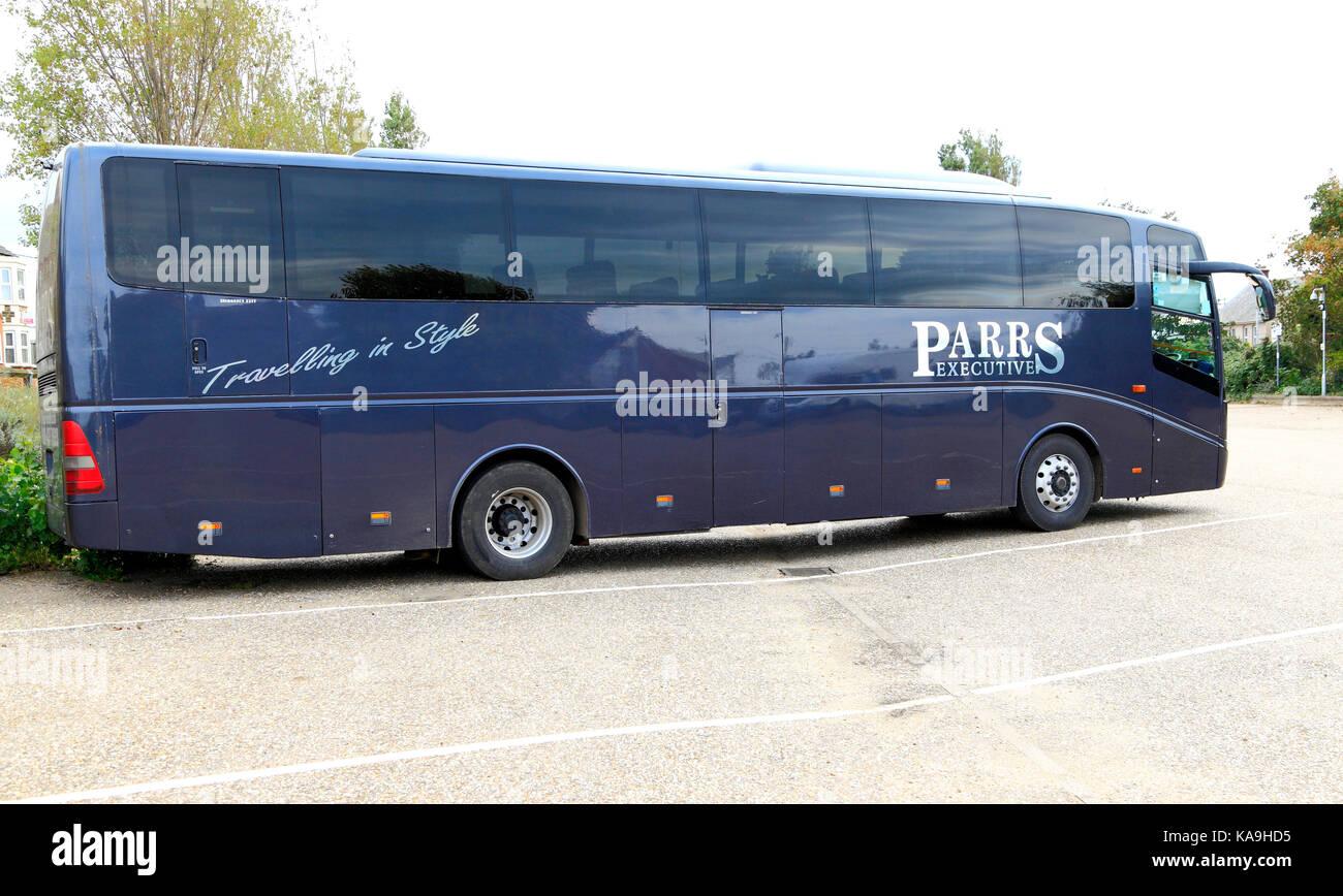 Parrs Executive Coach, pullman, per gite di un giorno, viaggio, escursione, escursioni, vacanza, vacanze, viaggi Immagini Stock