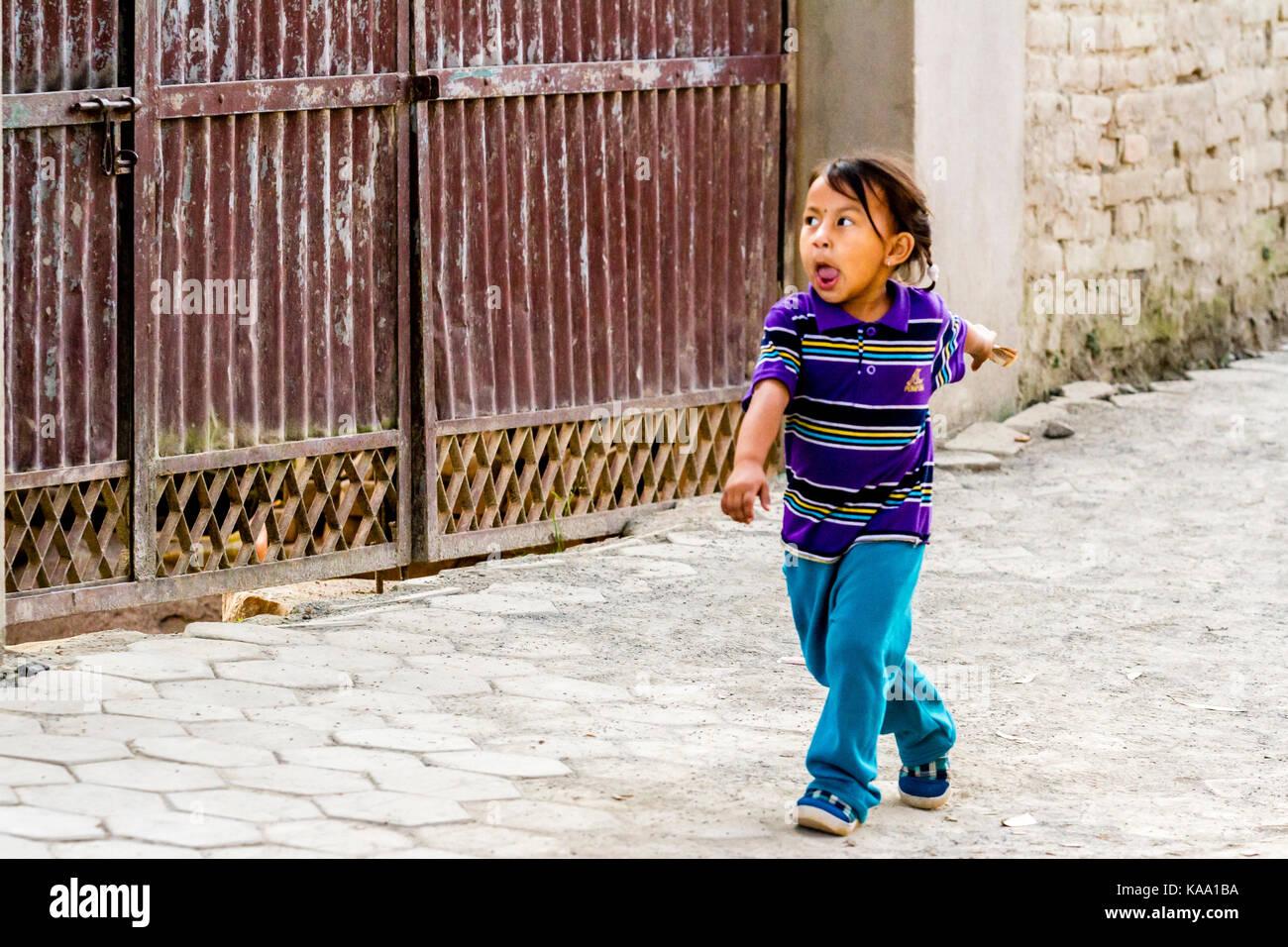 Bambino nepalese Immagini Stock