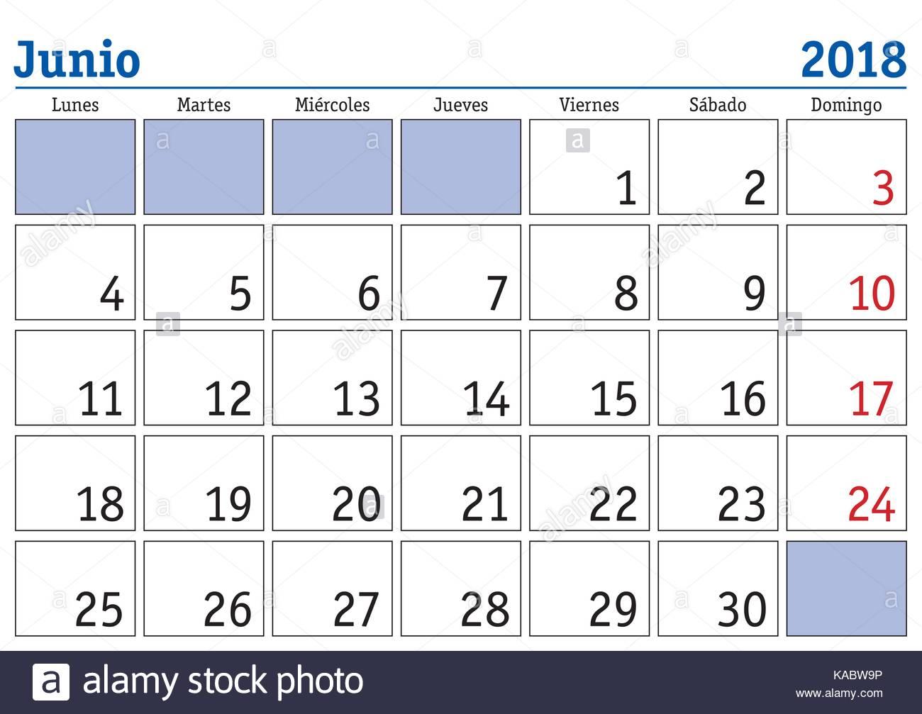 Calendario Di Giugno.Il Mese Di Giugno In Un Anno 2018 Calendario Da Parete In