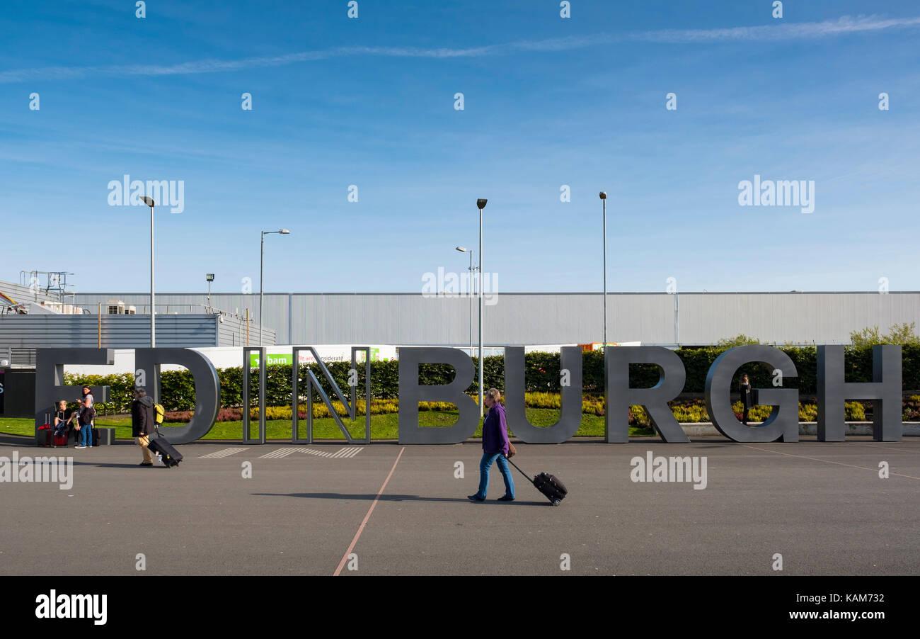 L'aeroporto internazionale di Edimburgo, Lothian, Scozia, Regno Unito. Immagini Stock