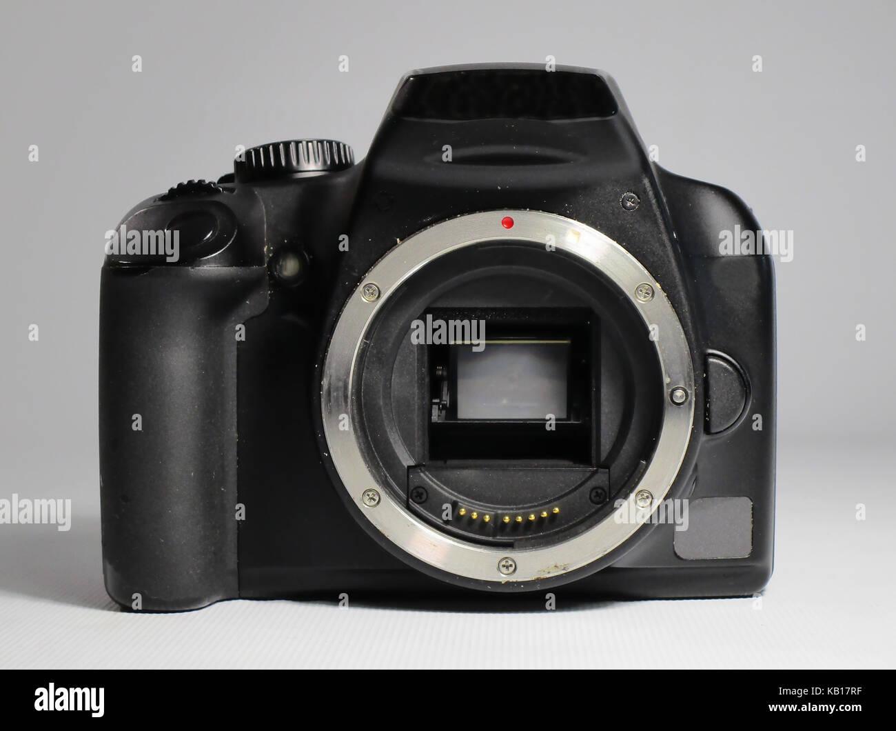 Fotocamera reflex digitale solo corpo Immagini Stock