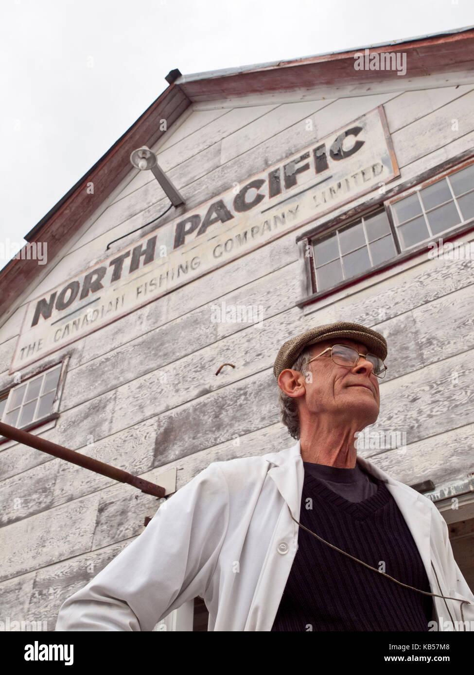 Guida in corrispondenza del Nord Pacifico cannery Immagini Stock