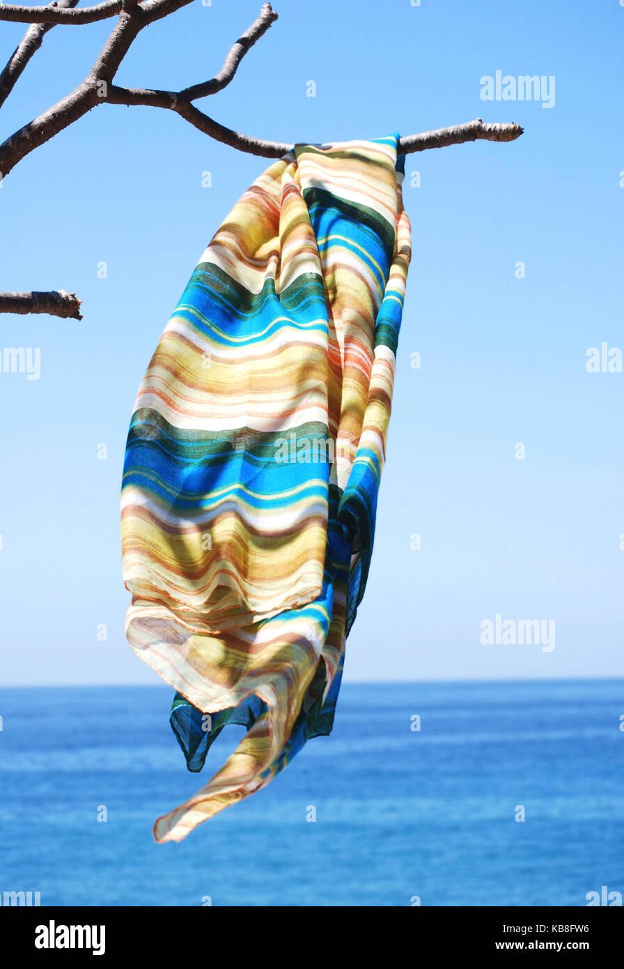 Beach sarong al vento lungo la costa del Pacifico del Messico Immagini Stock