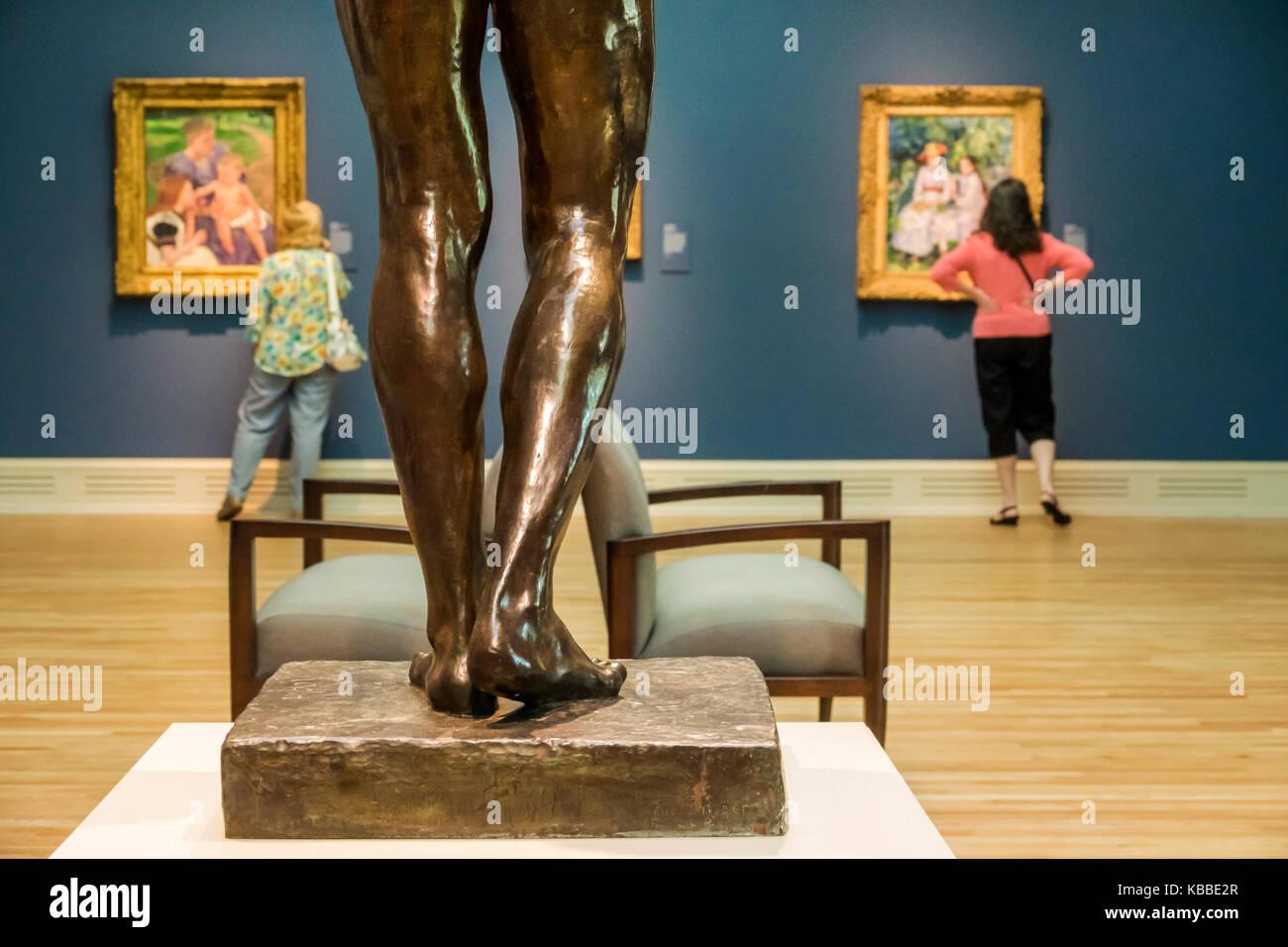 Norfolk Virginia Chrysler Museum di Arte Impressionismo presentano la pittura la scultura gallery interior donna Immagini Stock