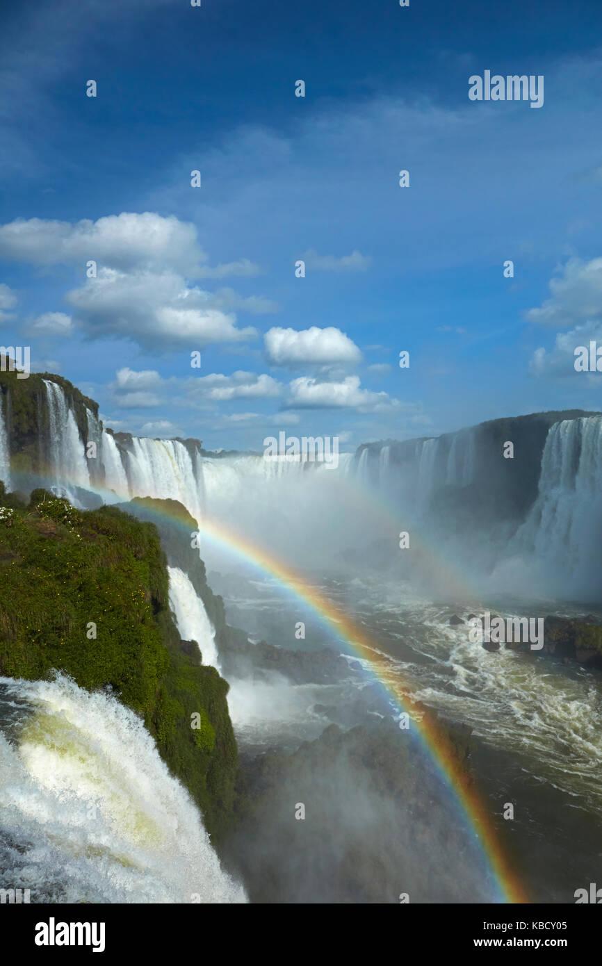 Garganta do Diabo, Cascate di Iguazu, Brasile - confine con l'Argentina, Sud America Foto Stock