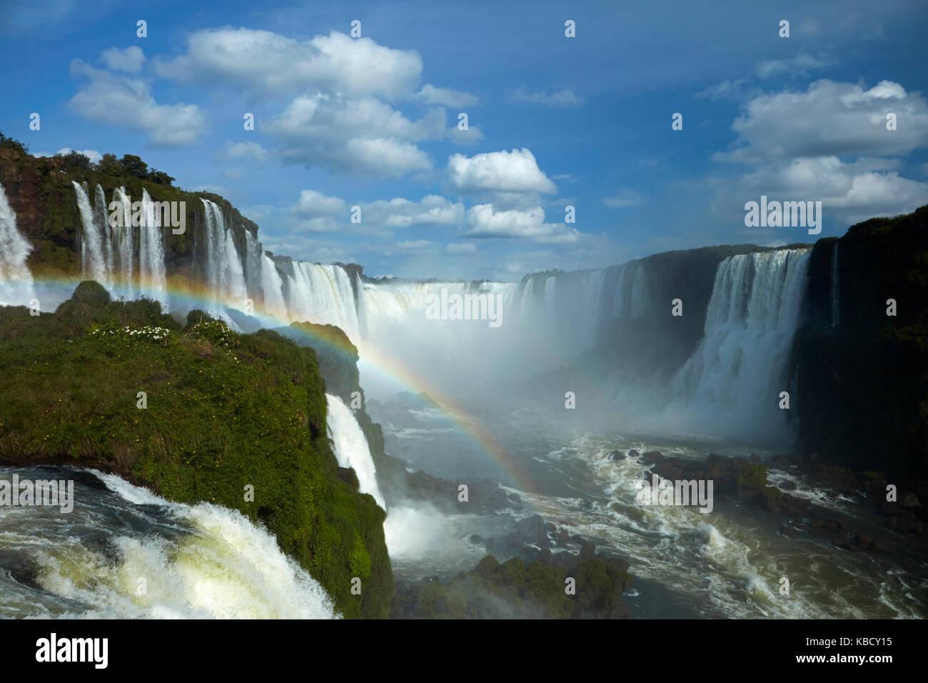 Devils gola (garganta do diabo), Iguazu falls, Brasile - Argentina frontiera, SUD AMERICA Immagini Stock
