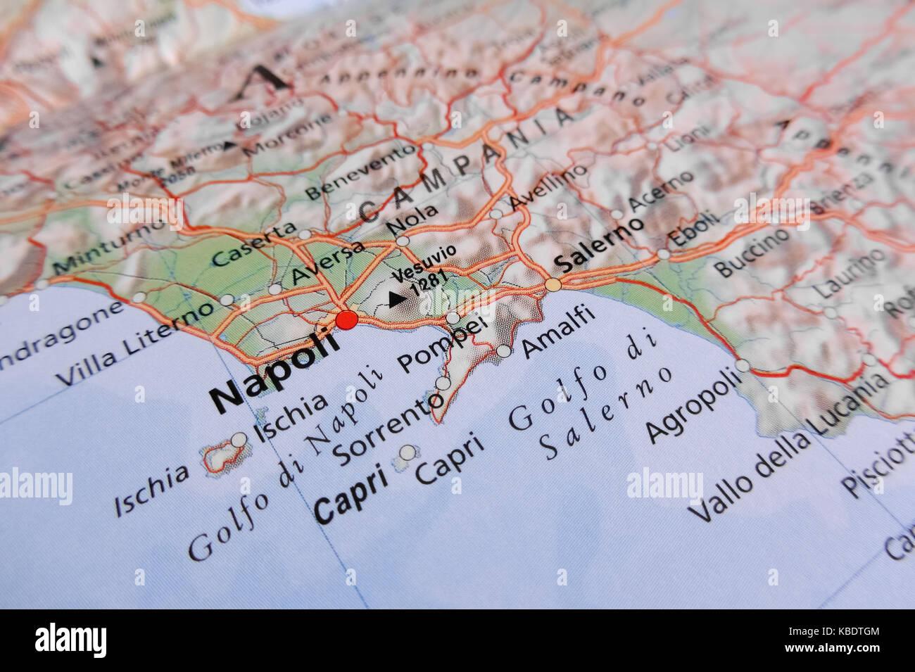 La Cartina Di Napoli.Mappa Di Napoli Italia Foto Stock Alamy