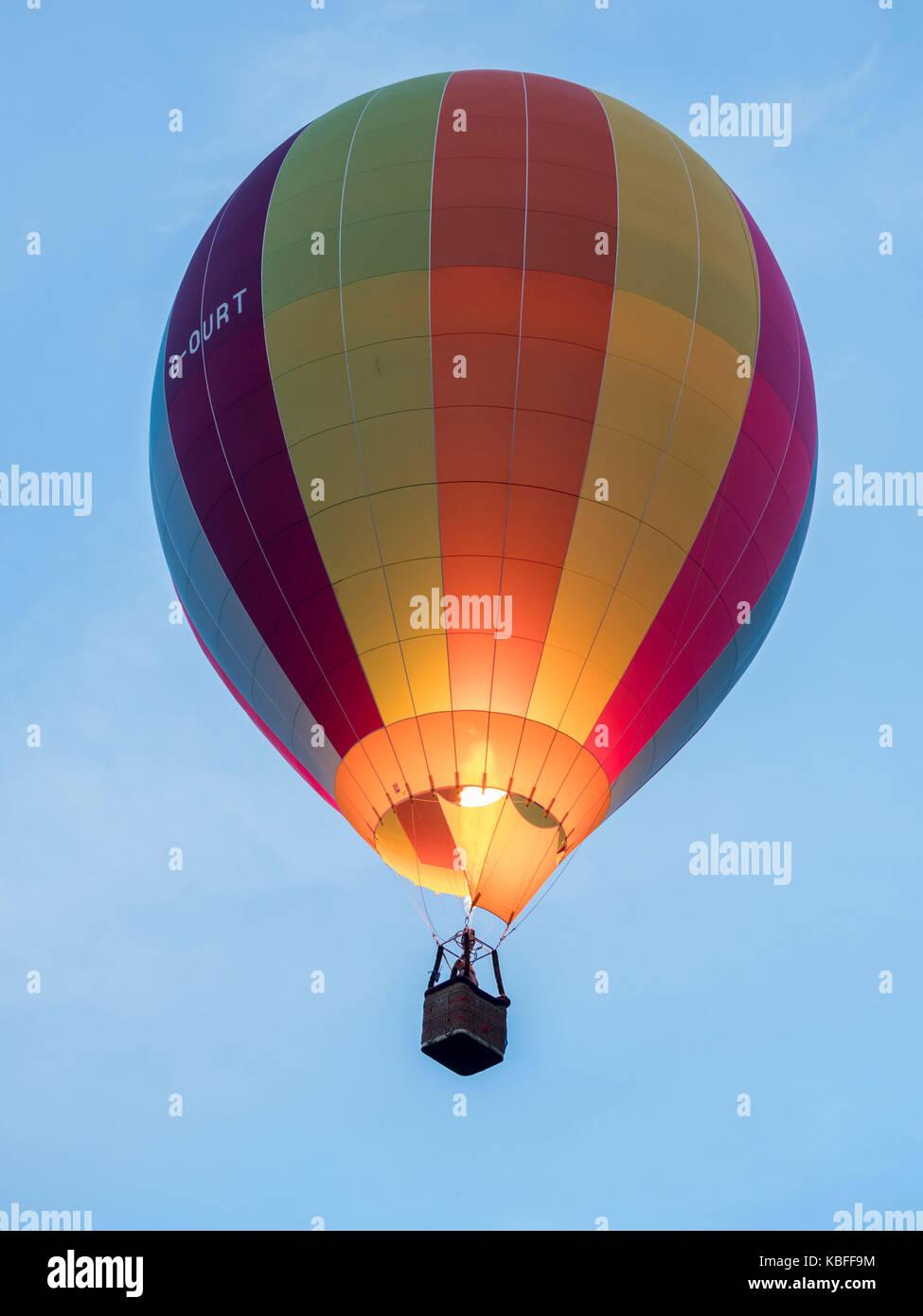York, Regno Unito. 30 Settembre, 2017. Un palloncino di massa di lancio è avvenuto presso sunrise da York Knavesmire Immagini Stock