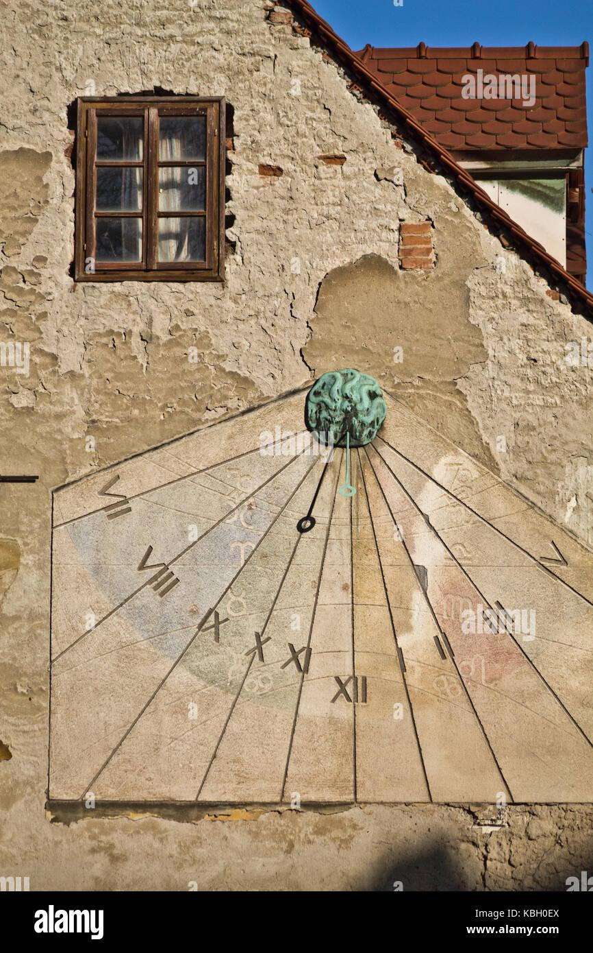 In Solare Immagine Vintage Fotoamp; Zagreb Orologio Una Su Parete SpqUMzV