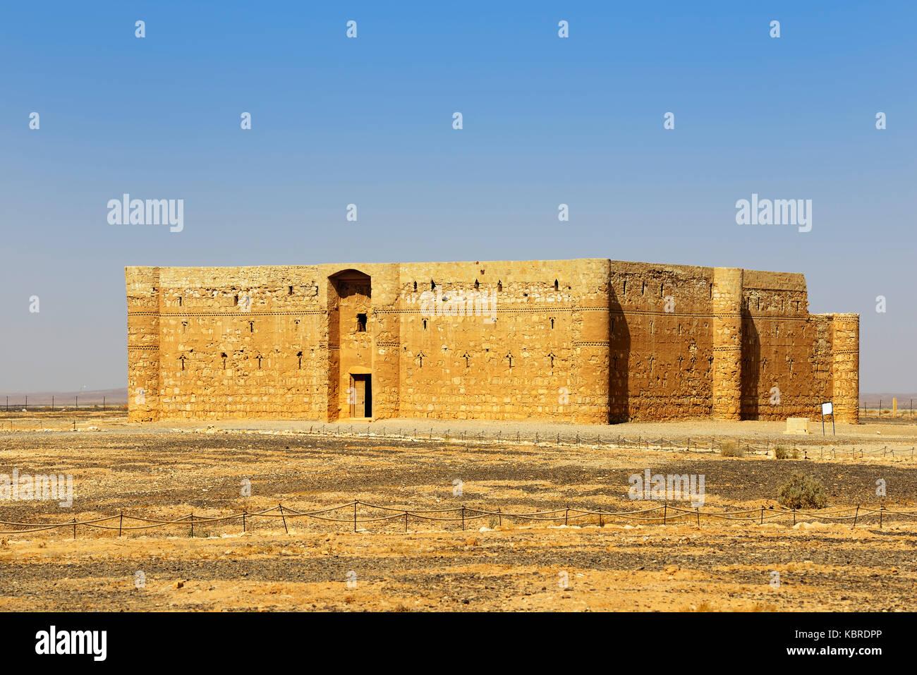Umayyad castello nel deserto, Qasr al-kharanah, Giordania Immagini Stock