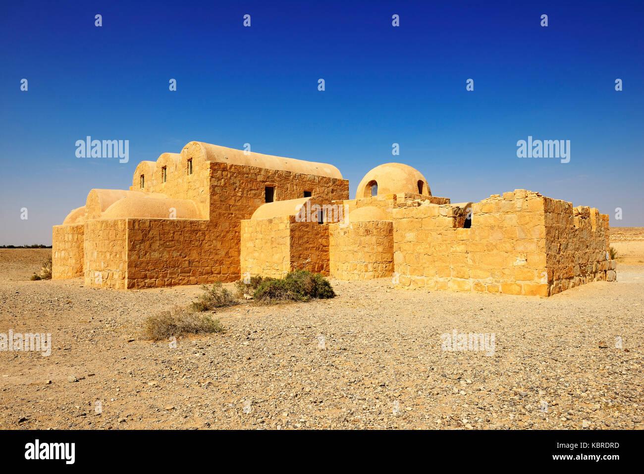 Omayyade castello nel deserto, qasr amra, Giordania Immagini Stock