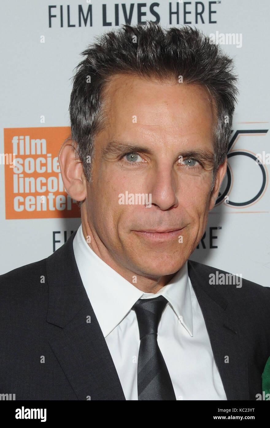 New York, NY, Stati Uniti. 01st ottobre 2017. Ben Stiller partecipa allo screening del New York Film Festival della Foto Stock