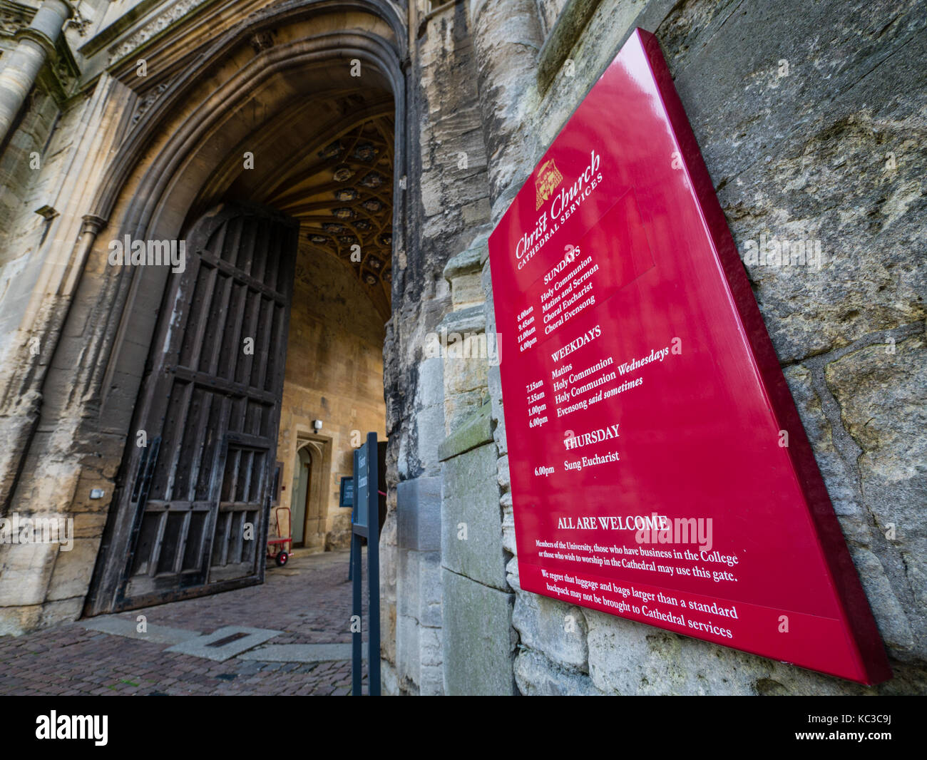 Ingresso alla Torre di tom, Christ Church College di Oxford University Oxford oxfordshire Foto Stock