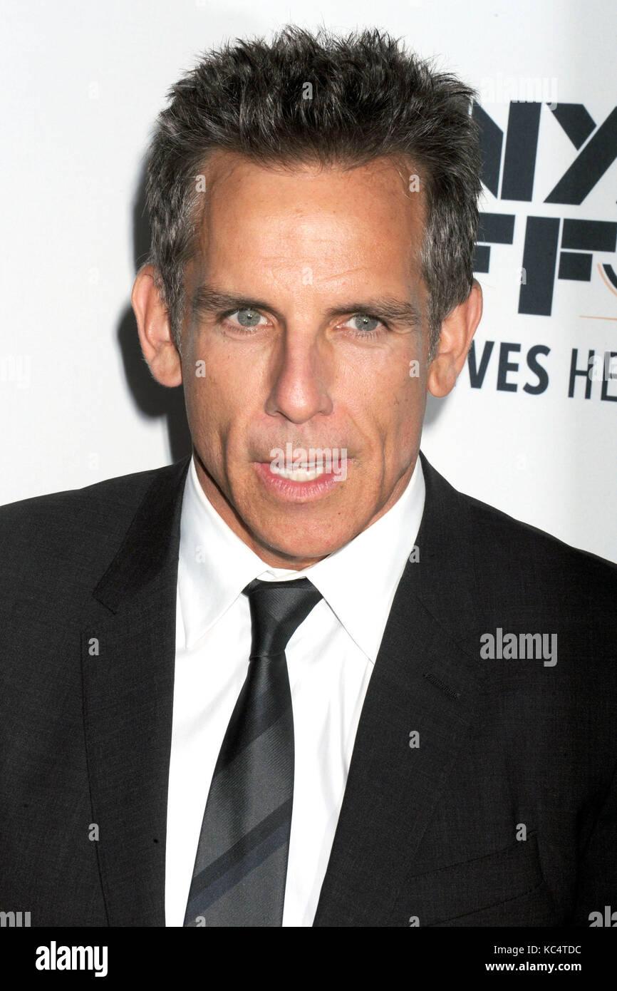 """Ben Stiller assiste """"meyerowitz storie 'premiere durante il cinquantacinquesimo new york film festival di Alice Foto Stock"""