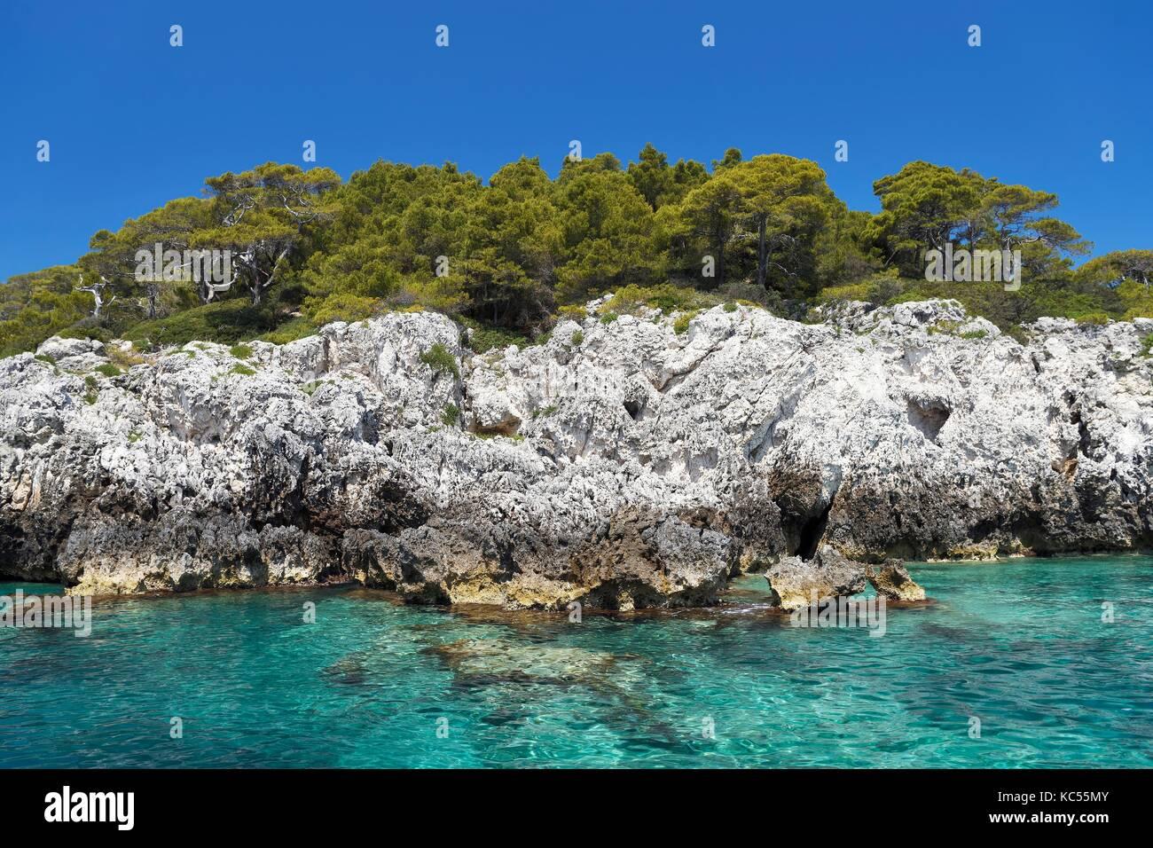Tremiti isola di San Domino, il parco nazionale del Gargano, in puglia, mare adriatico, Italia Immagini Stock