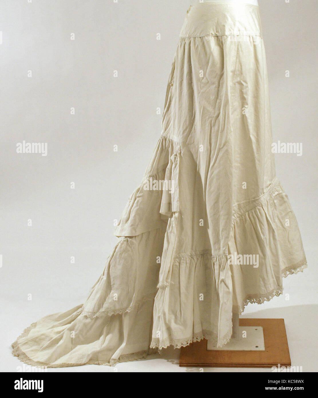 Petticoat, 1870s-80s, americano o europeo, cotone Immagini Stock