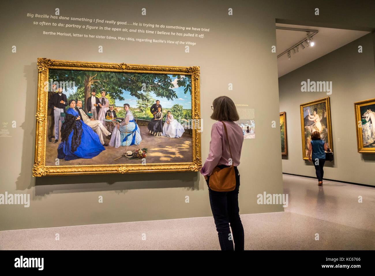 Washington DC e del Distretto di Columbia Galleria Nazionale di Arte Museo Frederic Bazille Impressionismo pittura Immagini Stock