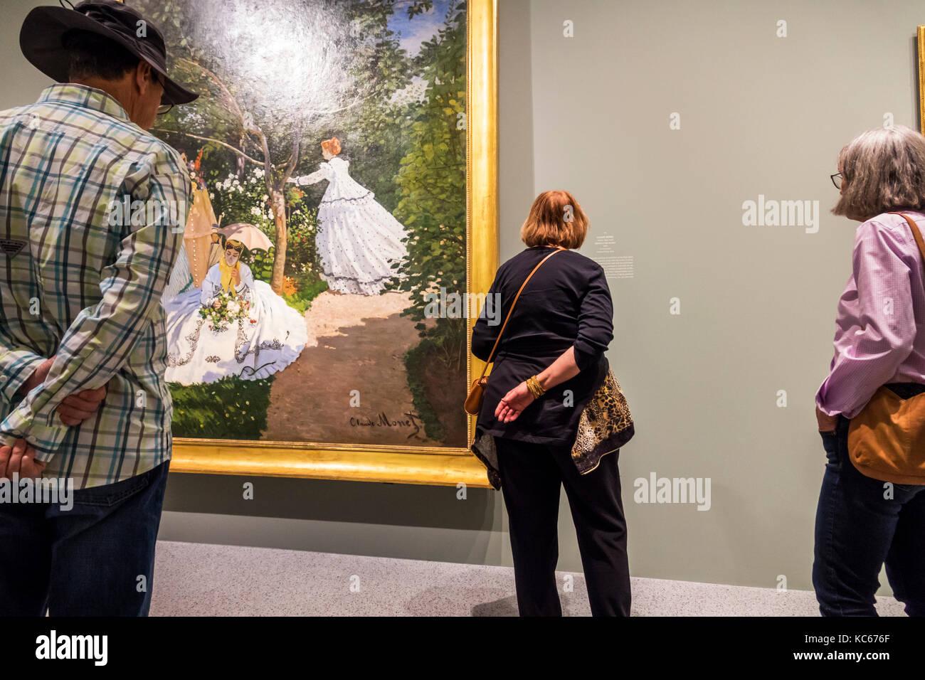 Washington DC e del Distretto di Columbia Galleria Nazionale di Arte museo di pittura impressionista Claude Monet Immagini Stock
