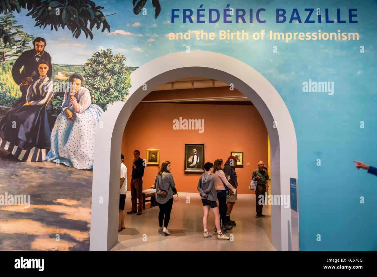 Washington DC e del Distretto di Columbia Galleria Nazionale di Arte Museo Frederic Bazille Impressionismo mostra Immagini Stock