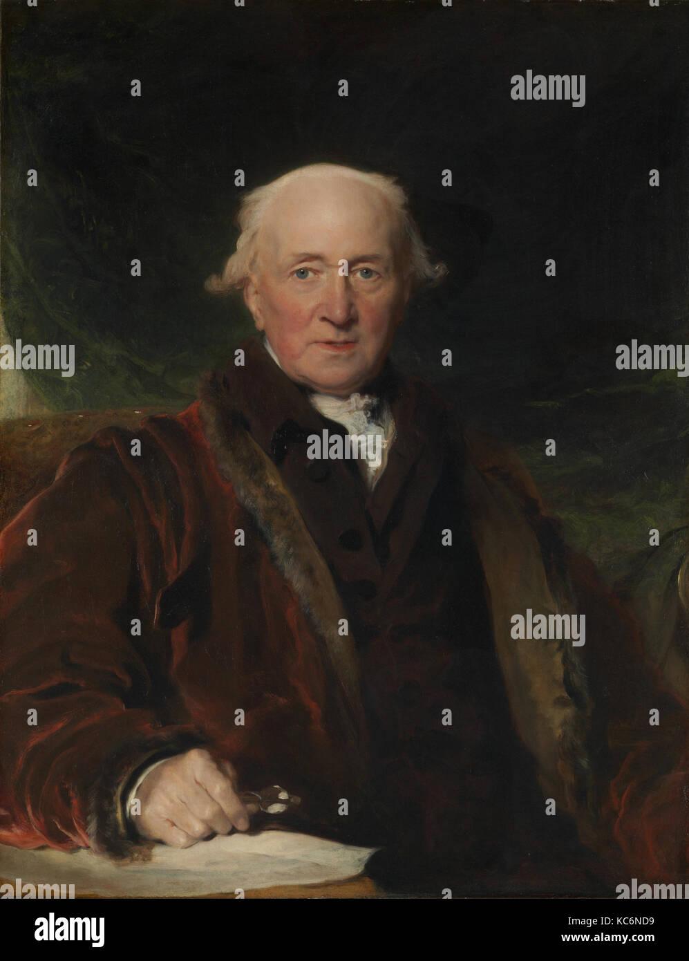 John Julius Angerstein (1736-1823), Sir Thomas Lawrence Immagini Stock