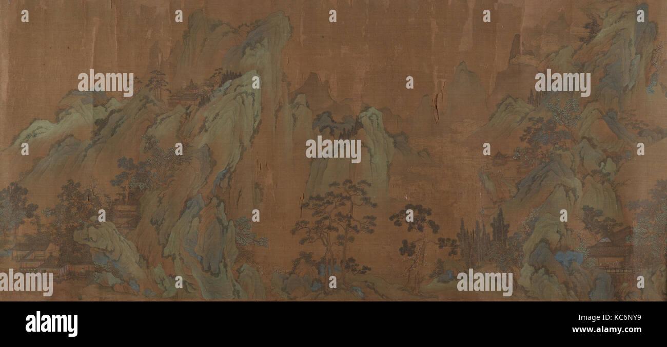 Paesaggio, artista non identificato, nello stile di Qiu Ying Immagini Stock